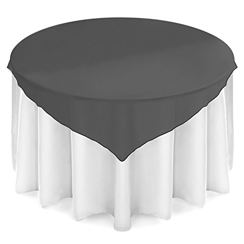 (Lann's Linens Organza Wedding Table Overlay - Tablecloth Topper (72