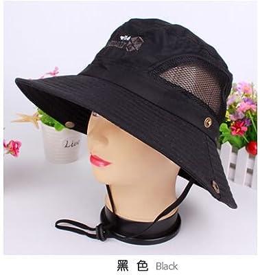 Mocase Outdoor Large Round Brim Bucket Hat Quick Drying Men Women Summer Sun Cap