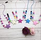 Silicone necklace for girls/Toddler teething necklace/Chunky necklace