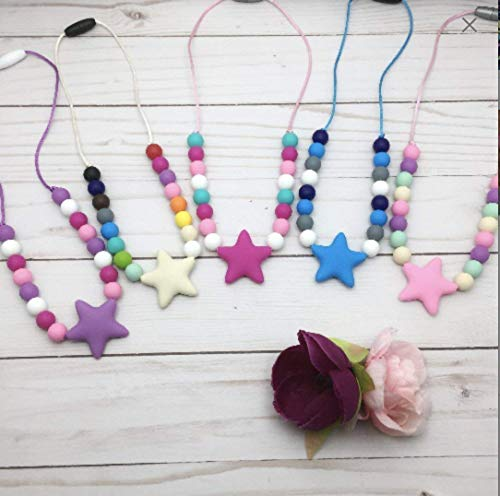 Silicone necklace for girls/Toddler teething necklace/Chunky necklace by Gummy Chic