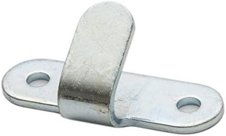 10x Abspannhaken 2-Loch Stahl verzinkt Planenhaken Lochhaken Zweilochhaken Netzhaken Zurröse