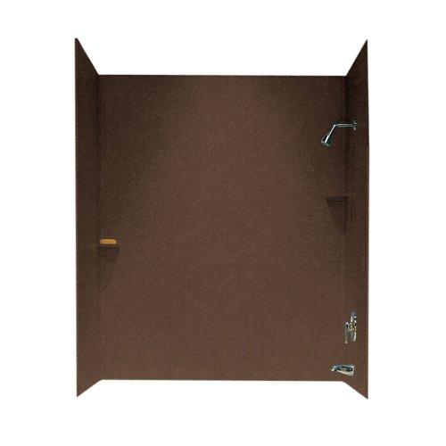 (Swanstone SS-72-3-123 Solid Surface Bathtub Wall Panel System, 30-Inch x 60-Inch x 72-Inch, Acorn, 3-Piece)