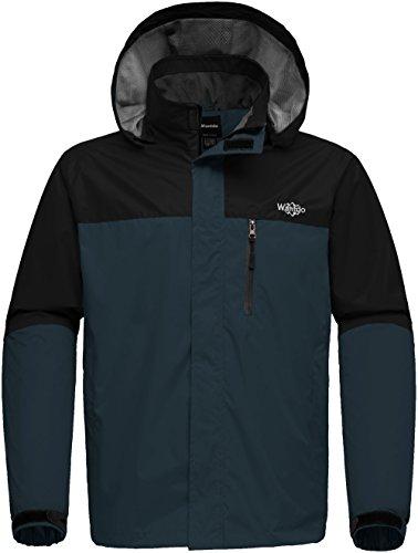 Wantdo Men's Windproof Outdoor Full Zip Water Resistant Windbreaker Spring Jacket for Traveling Black S