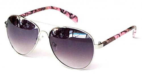 Women's Polarized Camouflage Sunglasses Aviator – Pink Camo Frame Smoke - Sunglasses Camo Pink