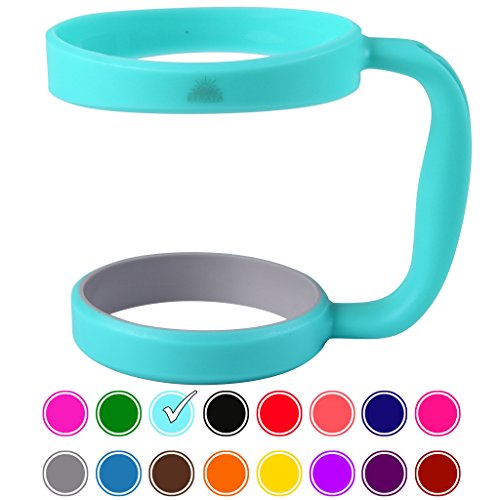 30oz Tumbler Handle (TEAL) by STRATA CUPS - 16 COLORS - Available For 30oz YETI Tumbler, OZARK TRAIL Tumbler, Rambler Tumbler- Black, Gray, Purple, Teal, Pink, Gray, Red & More - BPA FREE