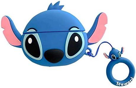 Amazon Com Airpods Pro Case Soft Silicone Blue Lilo And Stitch