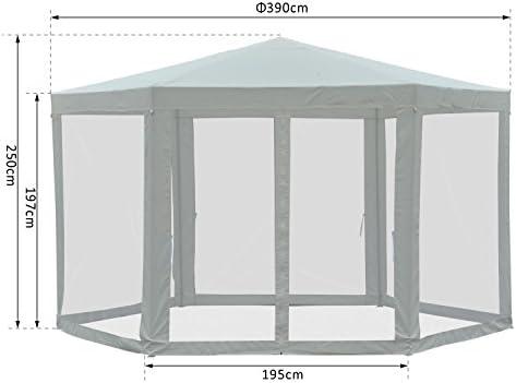 Outsunny® - Carpa para jardín (Cuadrada, poliéster y Metal, 390 x 390 x 250 cm), Color Crema: Amazon.es: Jardín