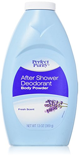 After Shower Deodorant Body Powder With Talc - Lavender Scent 13oz Talc Body Powder