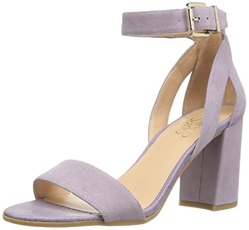 Franco Sarto Women's Malibu Heeled Sandal, French Lilac, 8 Medium US (Sandals Suede Purple)