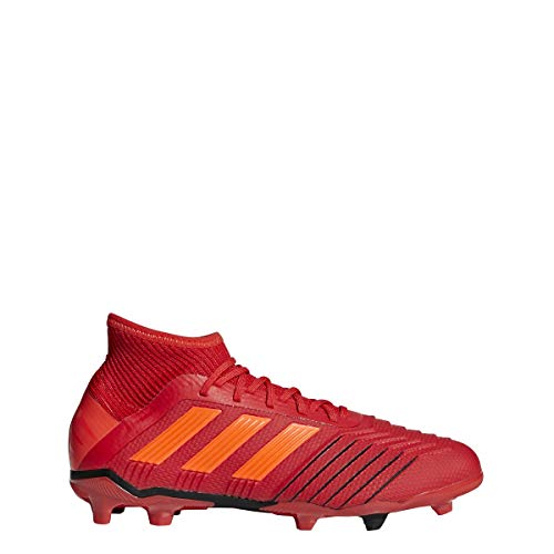 adidas Predator 19.1 FG Cleat Kid's Soccer, 5.0 D(M) US, Action Red-Solar Red-Black