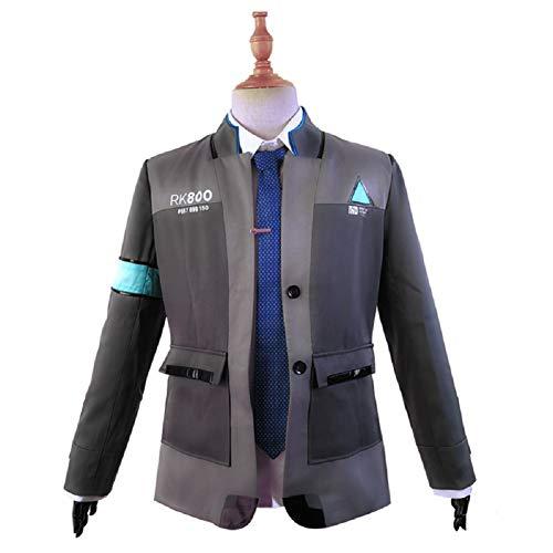 Barfest Game Become Human Connor Jacket Cosplay Costume Men Coat Uniform Suit by Barfest