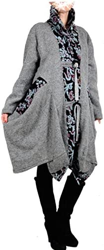 Italy Donna - Blouson - Trench - Femme Gris Gris