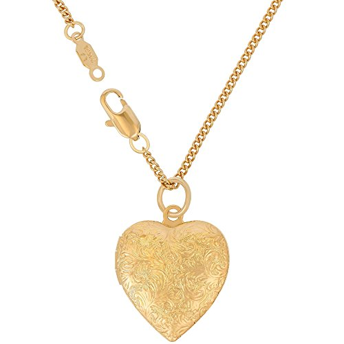 Lifetime Jewelry Heart Locket Necklace, Antique, 24K Gold Over Semi Precious Metals, Guaranteed for Life (Choice of Pendant with or Without Chain) (Gold Locket & Chain) by Lifetime Jewelry (Image #8)