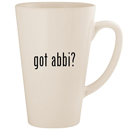 got abbi? - White 17oz Ceramic Latte Mug Cup for sale  Delivered anywhere in USA