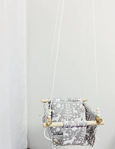 Indoor/Outdoor Woodland Fabric Baby Swing