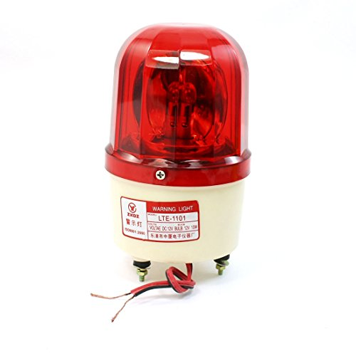 uxcell DC12V 10W Industrial Signal Tower Red Rotating Warning Light Bulb (Best Uxcell Light Bulbs)