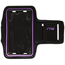 RND Slim-Fit Active Sports Armband Case for iPhone (SE 5 5C 5S 6 6S 7) Samsung Galaxy (S4 S5 S6 S7) LG Moto OnePlus HTC Google Pixel Blackberry Microsoft Smartphones and more (purple)