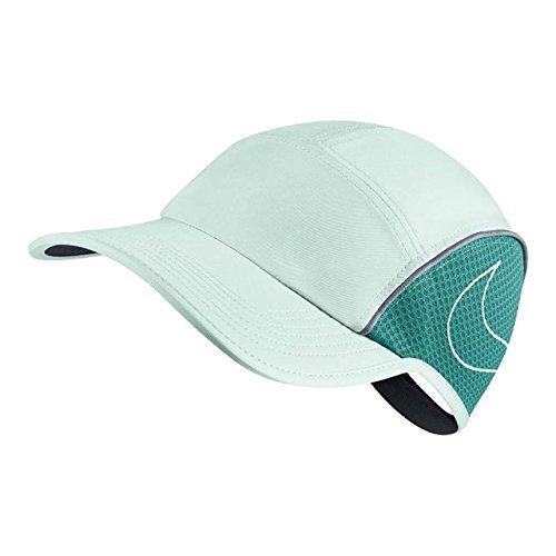 NIKE Women's AeroBill Running Cap (One Size, Igloo/Turbo Green)