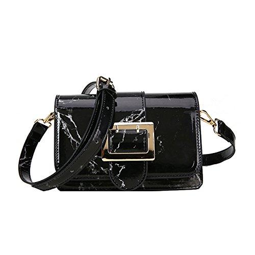 Black main messager d'embrayage sac à Femmes diagonale sac tendance marbre texture en sacs de bandoulière sacoche à transport mode sac sac bandoulière fwZAO1nwq