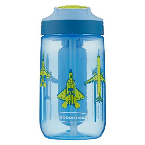 (Rubbermaid Leak-Proof Sip Kids Water Bottle, Blue Ice Stick, Jets)