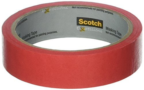 - Scotch Expressions Masking Tape, 0,94-Inch x 20-Yards, Primary Red (MMM3437PRD)