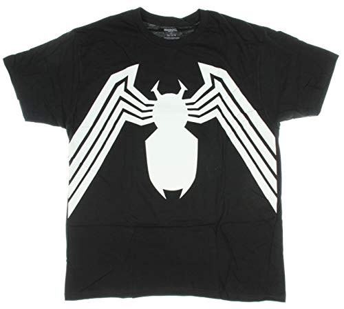 Marvel Venom Suit Spider-Man Black Costume T-Shirt - Black (X-Large) ()