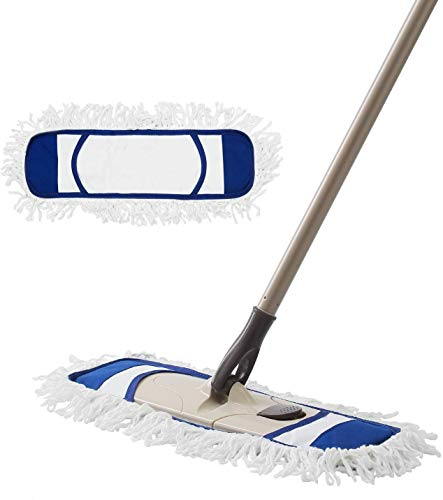 Eyliden Dust Mop Microfiber Hardwood Floor Mop with Extendable Adjustable Handle and 2 Mop Refills for Wet or Dry Floor Cleaning