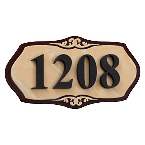 Aspire Customized Home Address Sign, House Hotel Office Number Sign, Personalized Acrylic Address Plaque Sign-Marble Pattern A-4-3/4