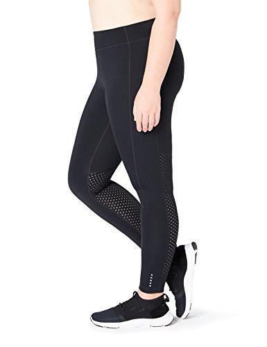 Core Legging (Core 10 Women's Flashflex Run Plus Size Medium Waist Tight, Black, 2X (18W-20W) -Short)