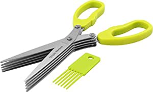 Utopia Kitchen 5 Stainless Steel Blades Multipurpose Scissors with Cleaning Comb and Anti-Slip Handle