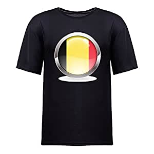 Custom Mens Cotton Short Sleeve Round Neck T-shirt, Printed with World Cup Images black