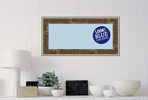 Amanti Art Blue Cork Farmhouse Brown Framed Bulletin Boards, 36 x 18, by Amanti Art (Image #3)