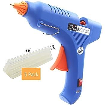 AI 100 Watt Hot Glue Gun with 5 Glue Sticks Industrial High Temperature adhesive hot melt glue gun Fast Heating up ( Blue )