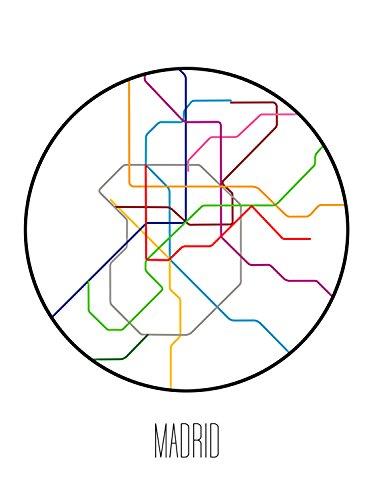 Subway Map In Madrid Spain.Amazon Com Madrid Minimalist Metro Handmade