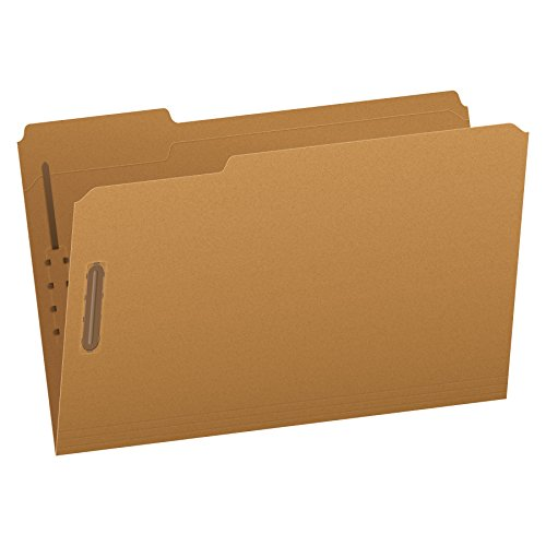 Pendaflex Kraft Fastener Folders, Legal Size, 2 Fasteners, 1/3 Cut, 50/BX (FK312)