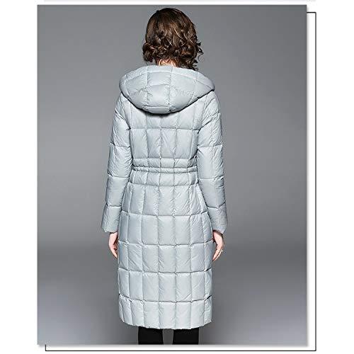 Para Y Cremallera Con Invierno Mujer Gray Sencilla Abrigo Bolsillo Xcxdx De Pluma Capucha Chaqueta Ropa Básica Abrigada q0gFS