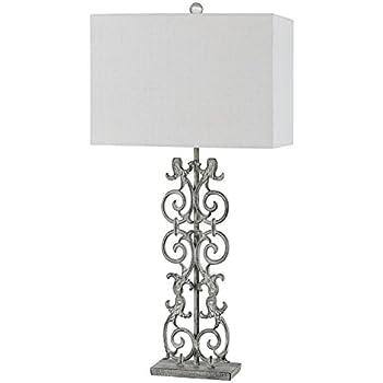 Amazon.com: CAL iluminación bo-2747tb lámpara de mesa: Home ...
