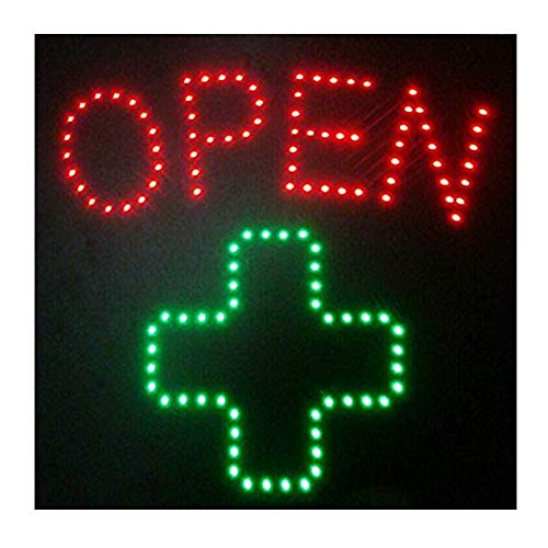 CHENXI Led Pharmacy Cross Sign Graphics 15mm Pixels Indoor led Business Shop Open neon Sign 48 X 48 cm (48 X 48 cm, A) by CHENXI