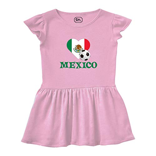 Cute Rascals Mexican Soccer Mexico Futbol Football Short Sleeve Taped Neck  Girl Cotton Toddler Rib Dress c7c37de31