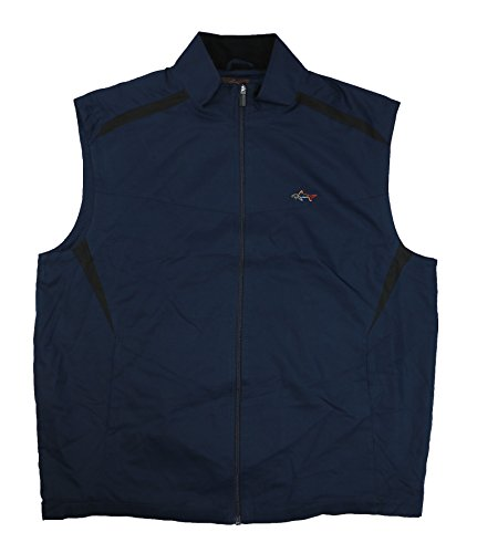 Greg Norman Tasso Elba Micro Dobby Wind Vest Jacket (Large, Night Sky) (Dobby Wind Jacket)