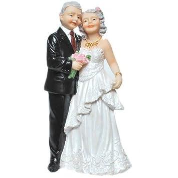 Tortenaufsatz Deko Brautpaar Alteres Brautpaar Goldene Hochzeit