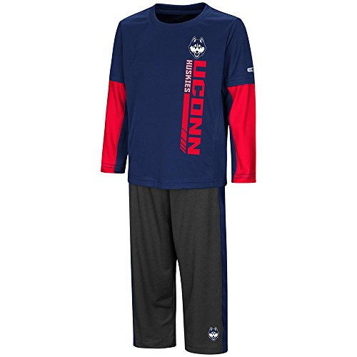 Colosseum Toddler UConn Huskies Long Sleeve Tee Shirt and Sweatpants Set - 2T