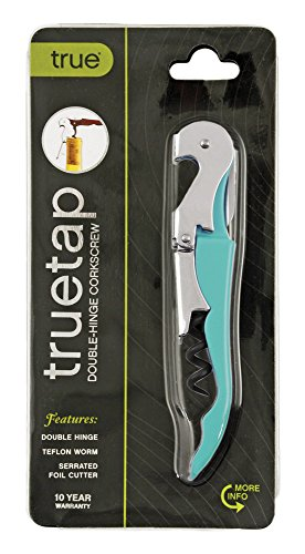 Truetap Teal Double Hinged Waiter's Corkscrew by True by True