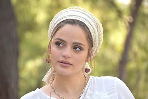 Tatting Lace Headscarf, Tichel, Hair Snood, Head Scarf, Head Covering, Jewish Headcovering, Scarf, Bandana