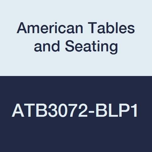American Tables & Seating ATB3072-BLP1 Vinyl Bullnose T-Molding Laminate Table Top, Polyethylene T-Molding, Wilsonart Premium 1 Laminate, 72