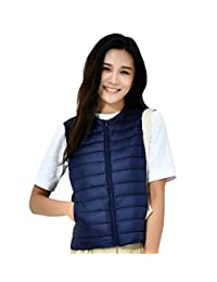 Prettybuy Lightweight Down Vest Women Packable Outwear Puffer Vests