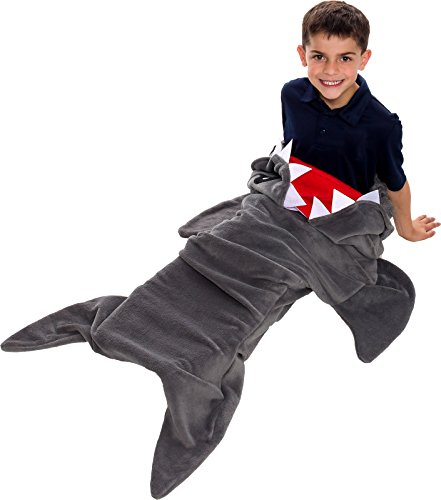 Silver Lilly Shark Tail Blanket - Plush Animal Sleeping Bag Blanket for Kids by (Grey) by Silver Lilly (Image #2)