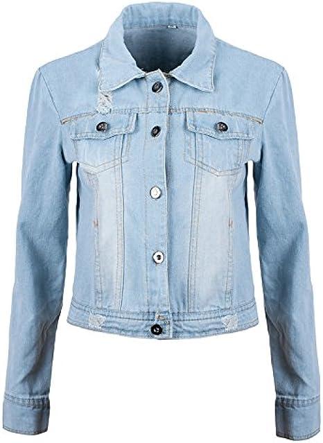 ladies long denim jacket uk