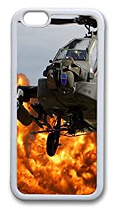 Ah64 Apache Helicopter Custom iphone 6 plus 5.5inch Case Cover PC hard White