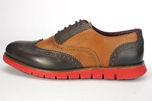 W Gatz Tan Sole brown Chaussures Brogues Red À London Lacets Homme 6wqZUU